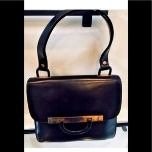 Loewe VTG Calf Leather Shoulder Baguette HandBag